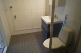 Tilava kylpyhuone pesukoneliitännällä