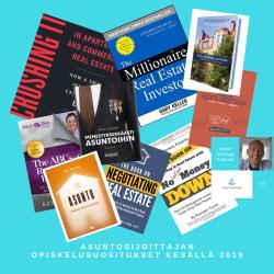 Asuntosijoittajan opiskelusuositukset kesällä 2019