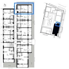 1. kerroksen päätyhuoneisto, yksi seinänaapuri