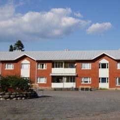 Talo Kokemäen Keskustorilta päin